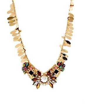 Image 2 ofASOS Winged Stone Collar Necklace