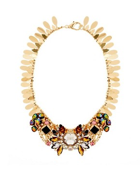Image 1 ofASOS Winged Stone Collar Necklace