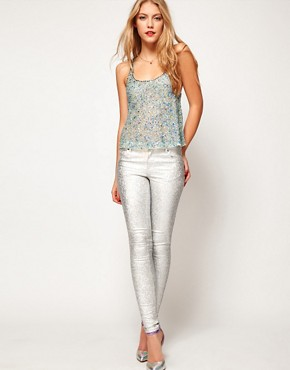 Image 4 ofASOS Swing Cami With All Over Crystal Embellishment