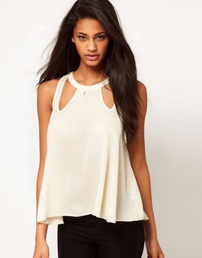 Image 1 ofASOS Swing Top With Cut Out Details