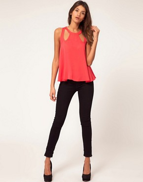 Image 4 ofASOS Swing Top With Cut Out Details