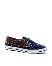 ASOS Boat Shoes With Anchor Print
