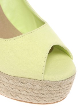 Image 3 ofASOS PENNY Espadrille Peep Toe Wedges