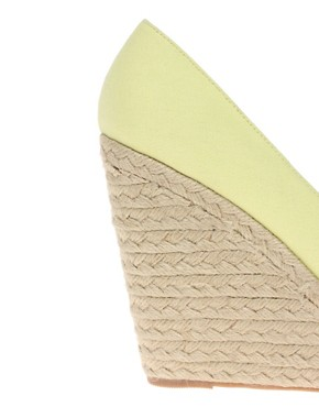 Image 4 ofASOS PENNY Espadrille Peep Toe Wedges