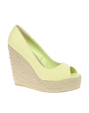 Image 1 ofASOS PENNY Espadrille Peep Toe Wedges