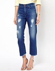 Mih Jane Raw Edge Ankle Jeans