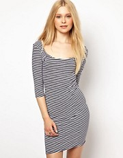 River Island Stripe Ballerina Scoop Dress