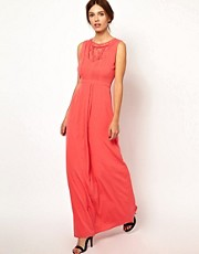 Warehouse Lace Insert Maxi Dress
