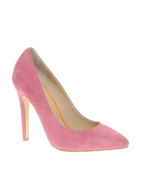 Image 1 ofASOS SANTO Suede Point Court Shoes