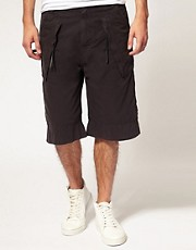 Shorts de 3/4 de largo con bolsillos de ASOS BLACK