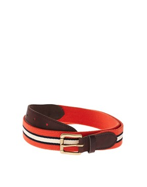 Image 1 ofASOS Stripe Elastic Belt