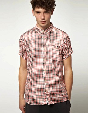 Image 1 ofSupremebeing Demode Cheesecloth Check Short Sleeve Shirt
