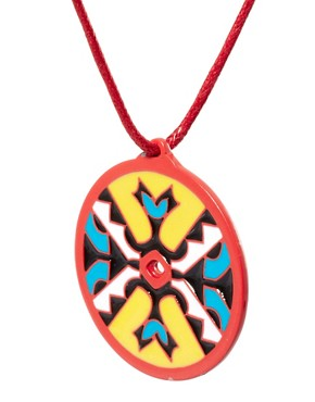 Image 4 ofASOS Aztec Disc Pendant Necklace