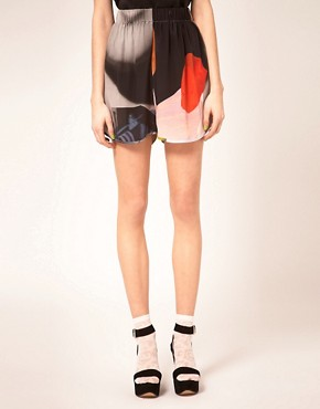 Image 4 ofLouise Amstrup Shorts In Bay Print