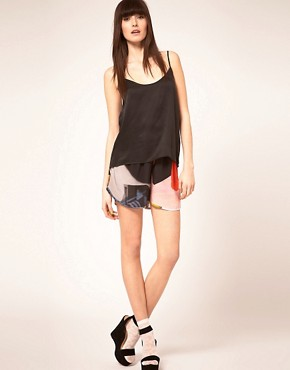 Image 1 ofLouise Amstrup Shorts In Bay Print
