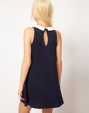 Image 2 ofASOS PETITE Swing Dress With Collar