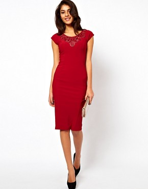 Image 4 of ASOS Midi Dress With Jewelled Neck