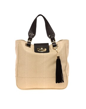 Image 1 ofRiver Island Twist Lock Tote Bag