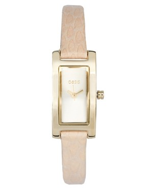Image 1 ofOasis White Rectangular Strap Watch