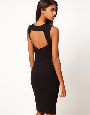 Image 1 ofASOS Sexy Pencil Dress with Cut Out Back