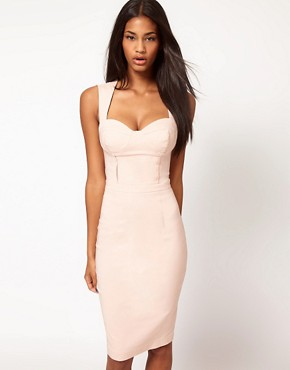 Image 2 ofASOS Sexy Pencil Dress with Cut Out Back