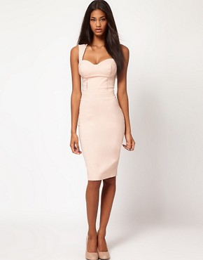 Image 4 ofASOS Sexy Pencil Dress with Cut Out Back