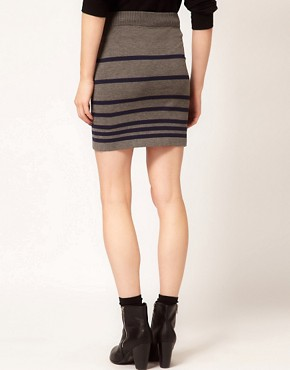 Image 2 ofRag And Bone/JEAN Knitted Stripe Skirt