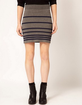 Image 4 ofRag And Bone/JEAN Knitted Stripe Skirt