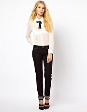 Vivienne Westwood Anglomania For Lee Slim Jeans In Super Black