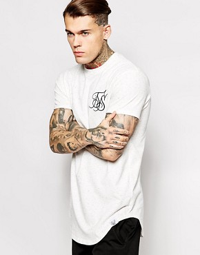 SikSilk Longline T-Shirt With Neps