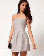 ASOS Strapless Dress With Lantern Skirt