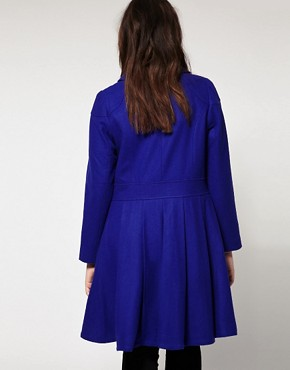 Image 2 ofASOS Curve Exclusive Pleated Swing Coat