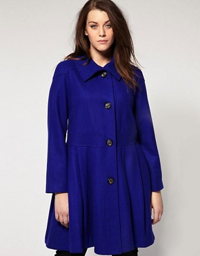 Image 4 ofASOS Curve Exclusive Pleated Swing Coat