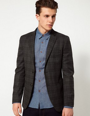 Image 1 ofUnited Colors of Benetton Check Slim Blazer