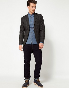 Image 4 ofUnited Colors of Benetton Check Slim Blazer