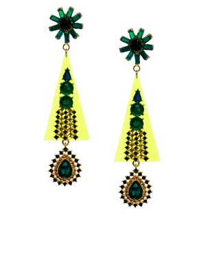Image 1 ofASOS Future Flower Gem Earring