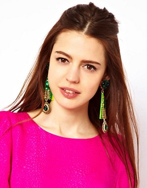 Image 2 ofASOS Future Flower Gem Earring