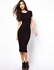 ASOS Bodycon Dress In Ribbed Texture