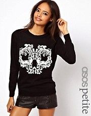 ASOS PETITE Exclusive Skull Jumper