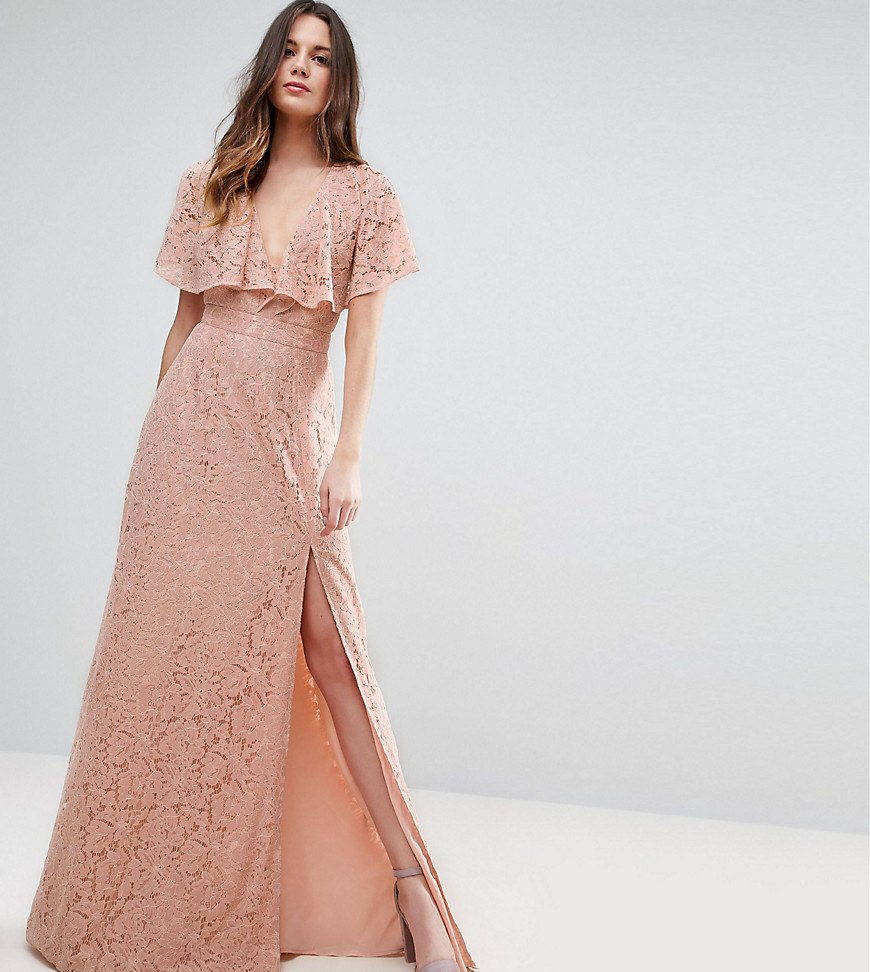 ASOS TALL Lace Open Back Maxi Dress