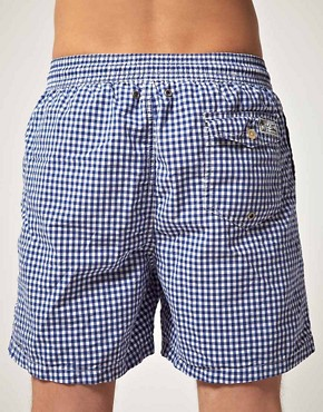 Image 2 of Polo Ralph Lauren Gingham Swim Shorts