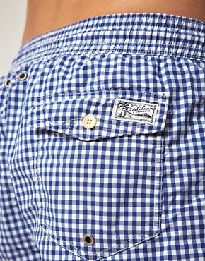Image 3 of Polo Ralph Lauren Gingham Swim Shorts