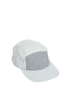 Image 1 ofASOS 5 Panel Seersucker Cap