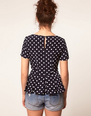 Image 2 ofA Wear Polka Dot Shell Top