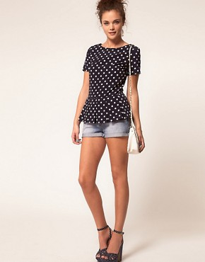 Image 4 ofA Wear Polka Dot Shell Top