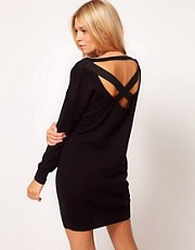 ASOS Jumper Dress With Elastic Cross Back