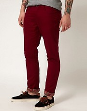 Afends - Chino slim fit con fondo a stampa cachemire