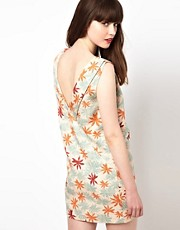 Sessun Palm Print Dress with Low Back
