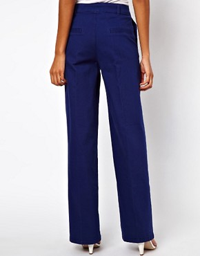 Image 2 ofASOS Trousers with Wide Leg in Twill