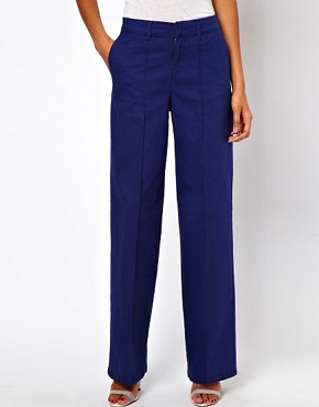 Image 4 ofASOS Trousers with Wide Leg in Twill